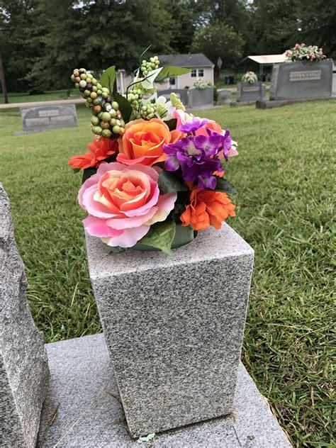 Cemetery flower arrangement for my grandmother. #flowers # ...