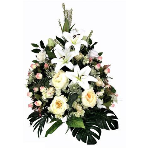 centro, flores, cementerio, artificiales, flores ...