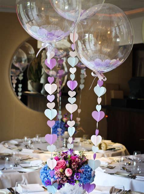 Centros de mesa con globos para boda   Centros de Mesa