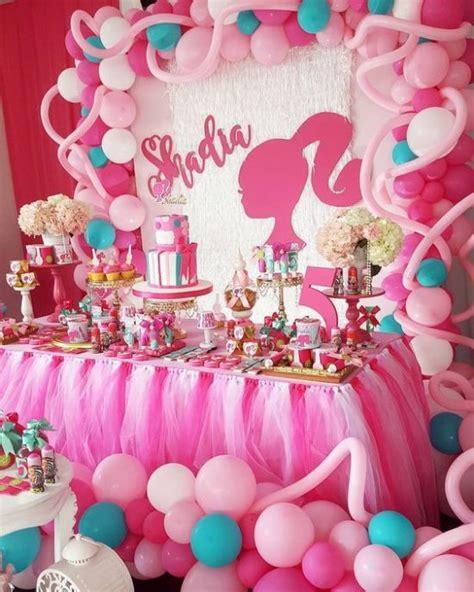 Centros de mesa , decoración y adornos con Barbie para ...