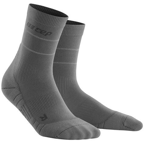 CEP Reflective Compression Mid Cut Socks for Women   grey ...