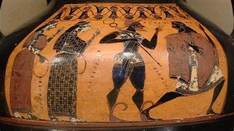 Cerámica griega que representa el juicio de Paris.El ...