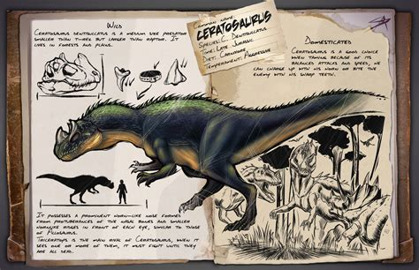 Ceratosaurus ARK Dossier [FANMADE] by satsume shi on ...