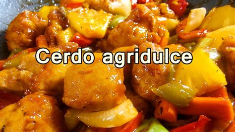 CERDO AGRIDULCE ESTILO CHINO   Recetas de Cocina faciles ...