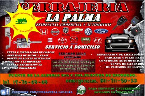 Cerrajeria La Palma en GENERAL ESCOBEDO. Teléfono y más info.