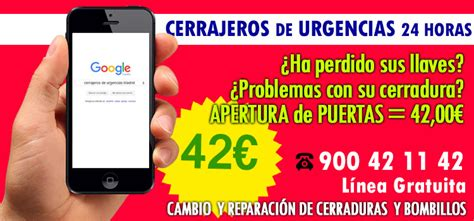 cerrajeros baratos Madrid centro Apertura Puertas 42,00€