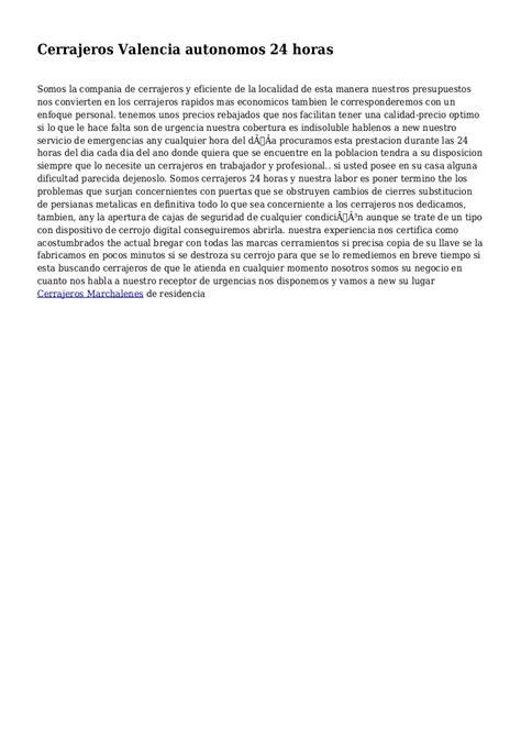 Cerrajeros Valencia autonomos 24 horas