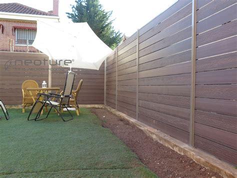 Cerramiento terraza en madera composite para medianeras ...