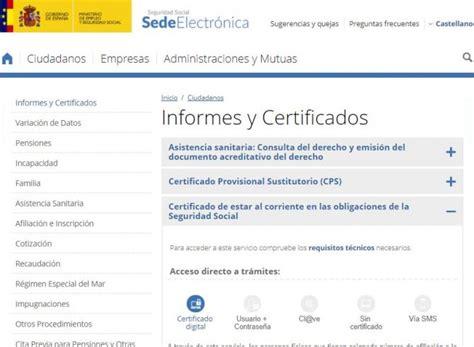 Certificado de estar al corriente de pago en la Seguridad ...