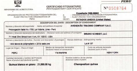 CERTIFICADO FITOSANITARIO / ZOOSANITARIO