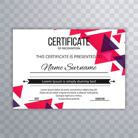 Certificado plantilla premium premios diploma colorido ...