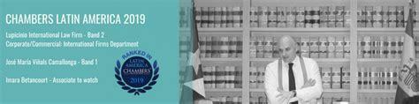 Chambers Latin America 2019 | Lupicinio International Law Firm