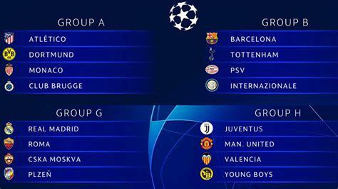 Champions 2018 2019   Duros grupos para Barcelona y ...