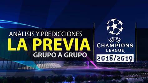 Champions League 2018/19 | Predicciones, Análisis ...
