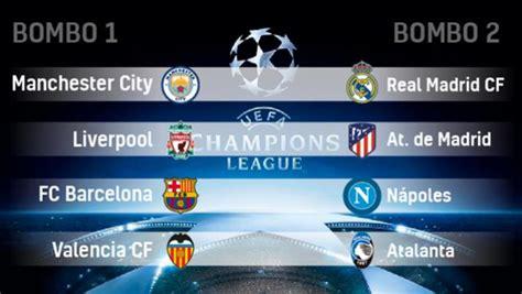 Champions League 2020: rivales y grupos del sorteo de ...