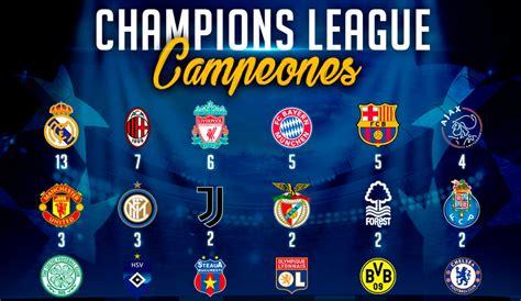 Champions League campeones: Palmarés: los campeones de la ...