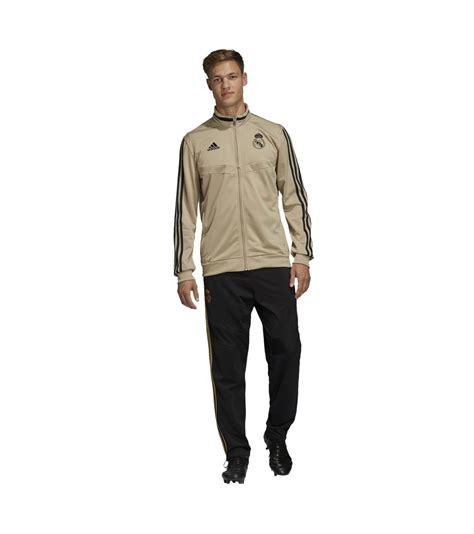 Chándal Hombre Adidas Real Madrid 2019/2020 Beige/Negro EI7470