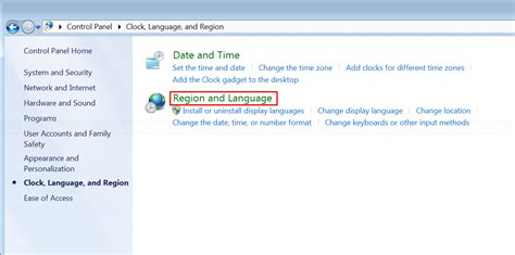Change display language on Windows 7   Linglom.com