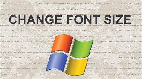 Change font size Windows 7   YouTube