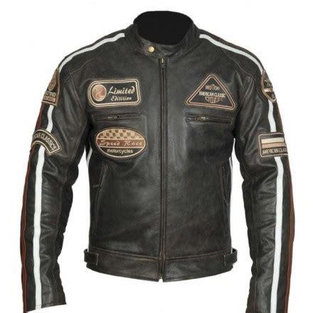 Chaqueta para moto de cuero Redbat BSM 7862 color marrón