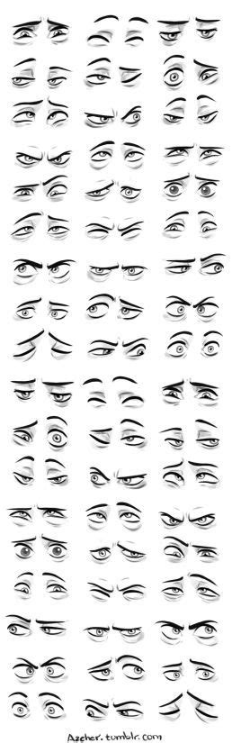 Character Design Collection: Eyes Anatomy : Semi realistic ...