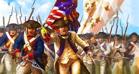 Charge of the Continental and French Armies, American War ...