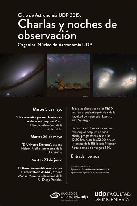 """Charla """"El universo invisible revelado por el observatorio ..."""