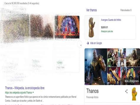 Chasquido de Thanos  desaparece  resultados de Google ...