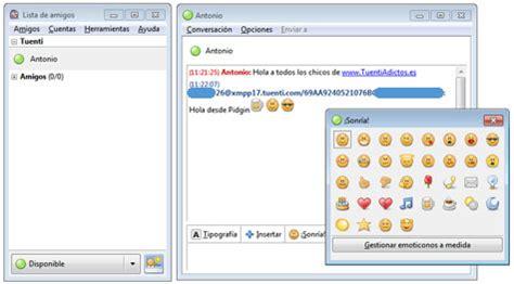 Chat de Tuenti en Pidgin al estilo Messenger | Tuenti Adictos