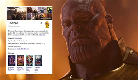 Check Out Google s Thanos Easter Egg To Celebrate Avengers ...