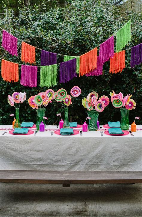 Check out this modern backyard fiesta party with lots of ...