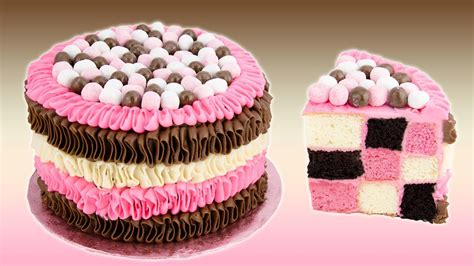 Checkerboard Neapolitan Cake Recipe from Cookies Cupcakes ...
