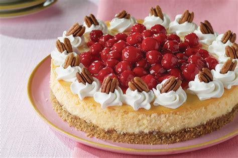 Cheesecake de chocolate blanco, cerezas y nueces   Comida ...