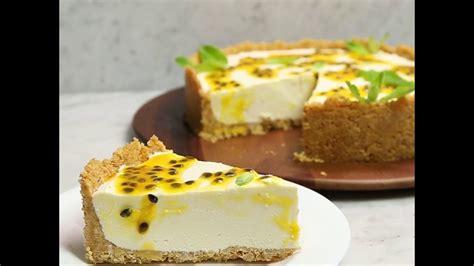 Cheesecake de chocolate blanco y maracuyá   YouTube
