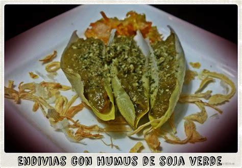 Chefs lunáticas: Endivias con humus de soja verde