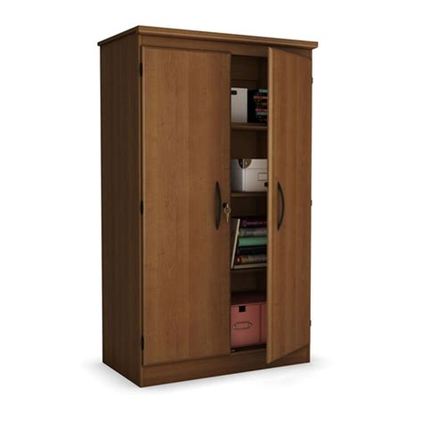 Cherry 2 Door Storage Cabinet Wardrobe Armoire for Bedroom ...