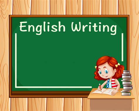 Chica escribiendo en clase de ingles | Vector Gratis