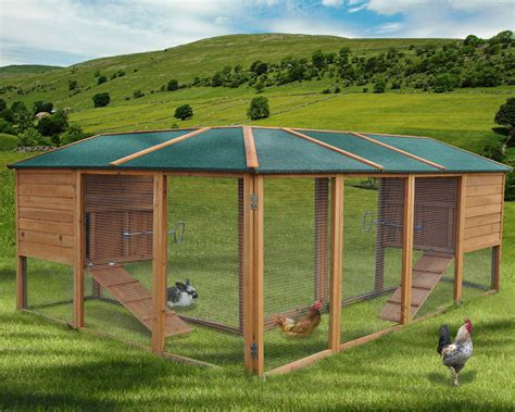 Chicken Coop Poultry Hen House Cage Rabbit Hutch 240x180 ...