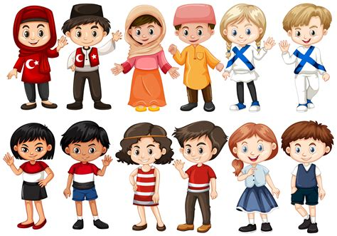 Children from different countries   Download Free Vectors ...