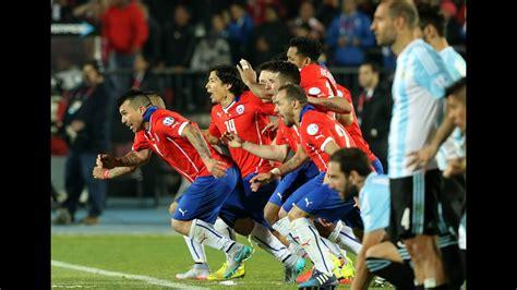 Chile 0  4  vs 0  1  Argentina   Penales   Final Copa ...
