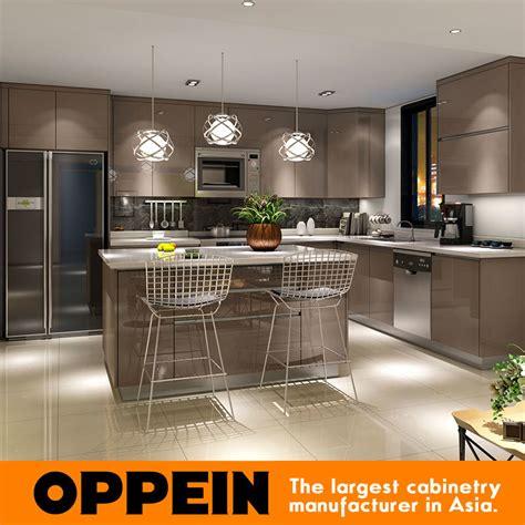China Modern Glossy Grey Wooden PP L Shaped Modular ...