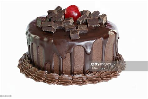 Chocolate Cake On White Background High Res Stock Photo ...