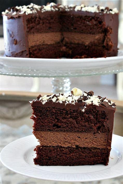 Chocolate Cheesecake Cake   Recipe Girl