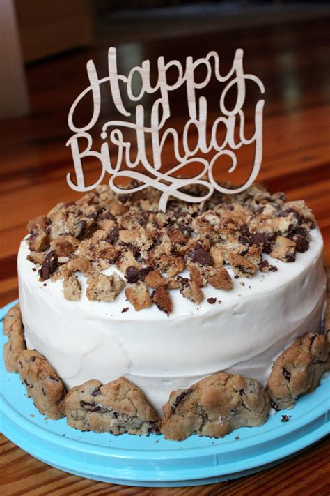 Chocolate Chip Cookie Chocolate Birthday Cake ...