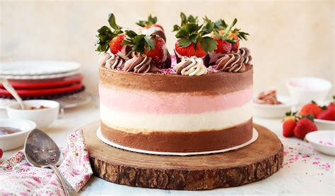 Chocolate Dipped Strawberry Neapolitan Cake   The Candid ...