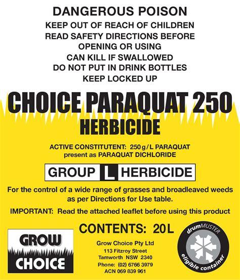 CHOICE PARAQUAT 250   Grow Choice