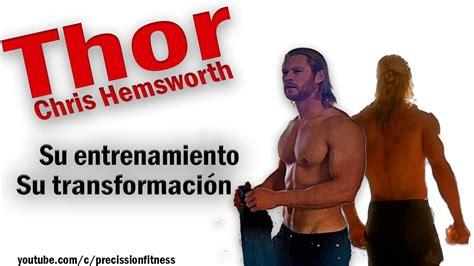 Chris Hemsworth: El entrenamiento de THOR | Brazos de dios ...