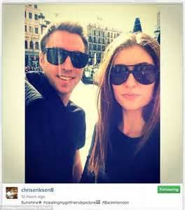 Christian Eriksen enjoys a sunny day out in London ahead ...