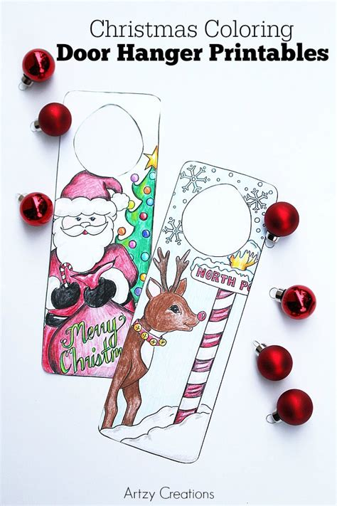 Christmas Coloring Page   Door Hanger Printables   The ...
