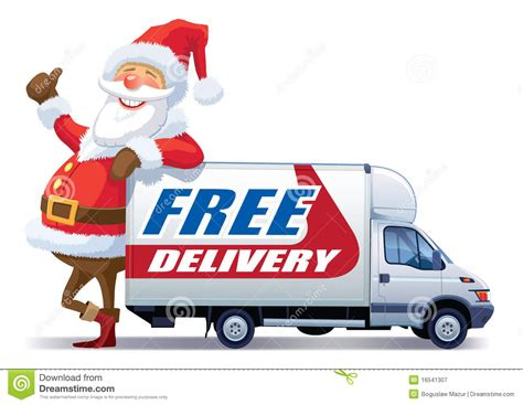 Christmas free delivery stock vector. Illustration of ...